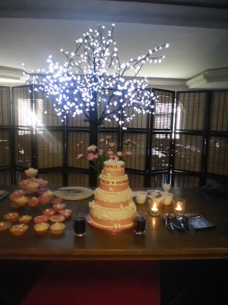 bruiloft, bruidstaart