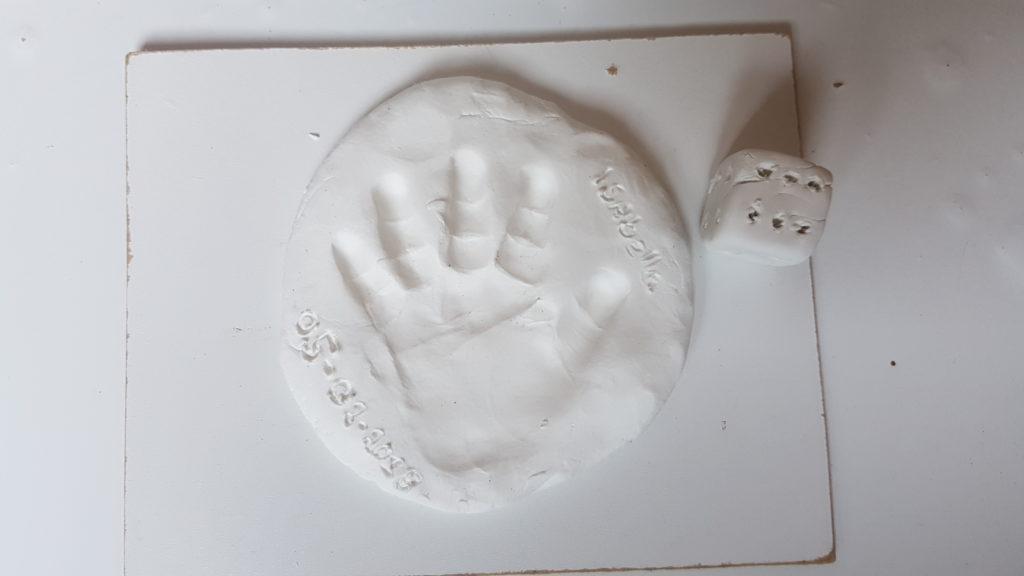 baby hand afdruk klei