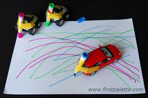 Met auto tekenen