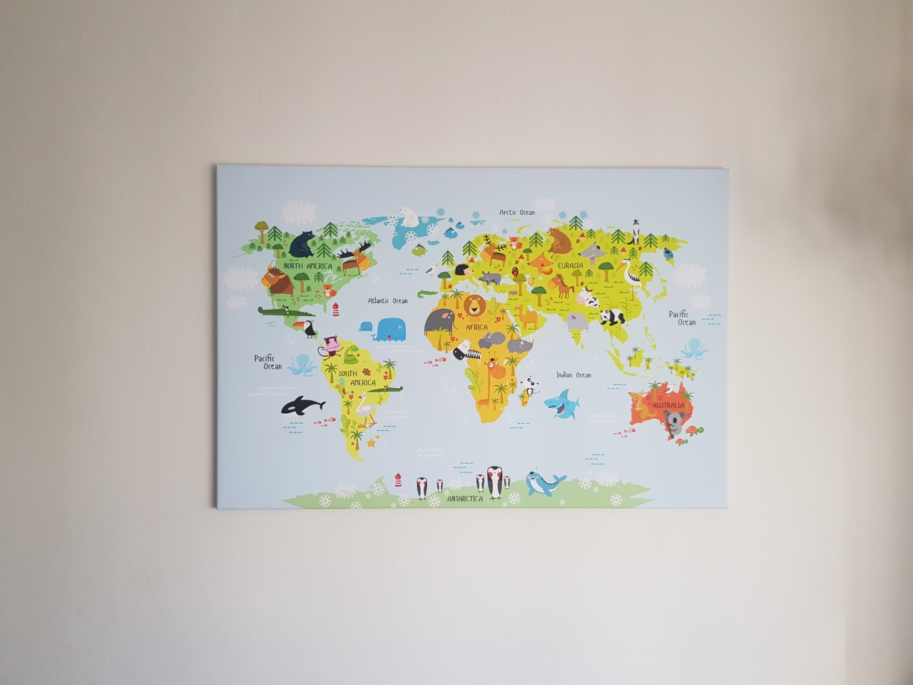 canvas wereldkaarten,